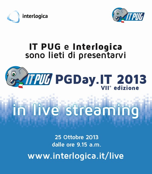 PGDay.IT 2013 Live Streaming